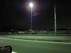 街路灯を光源にした撮影例
