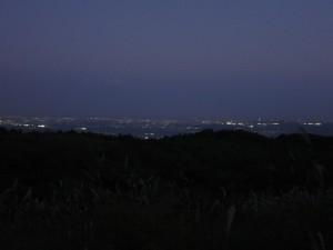 暗くなってきた泉ヶ岳