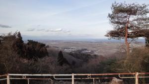 四方山山頂から仙台湾方向