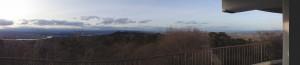 四方山展望台から蔵王(西側)から仙台方面(スイングモード)