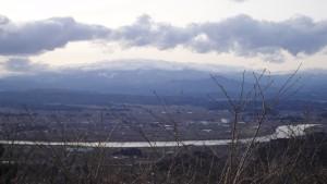 四方山展望台から蔵王(ズーム)