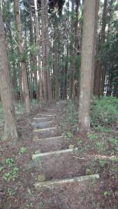 小原縫殿助のお墓に続く山道