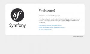 修正後のSymfony2環境確認画面